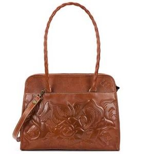 Patricia Nash Paris Tool Rose Leather Satchel Bag